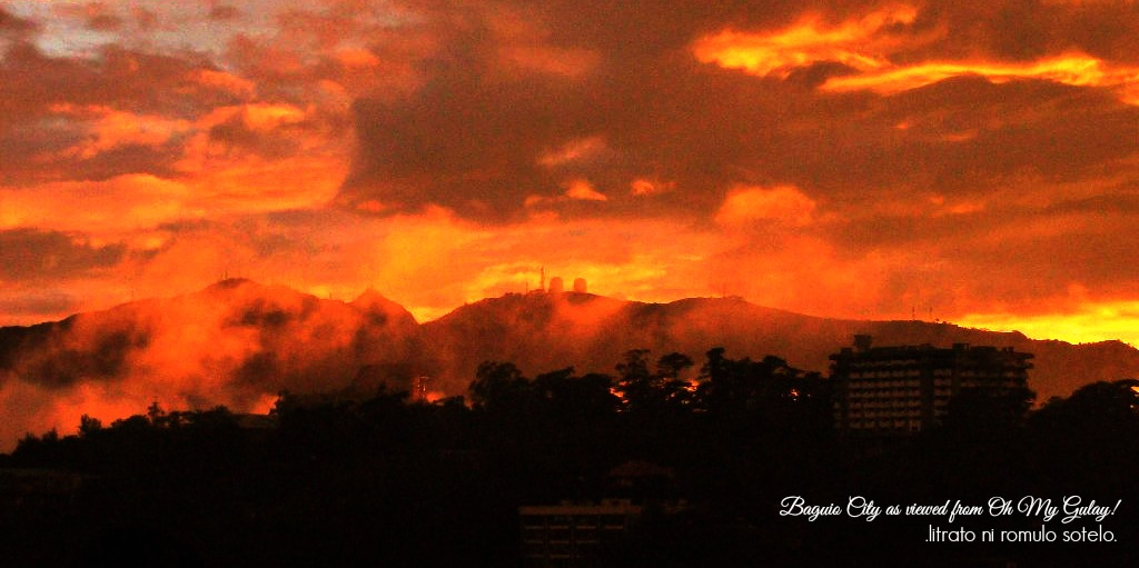 Baguio City and its golden sky.