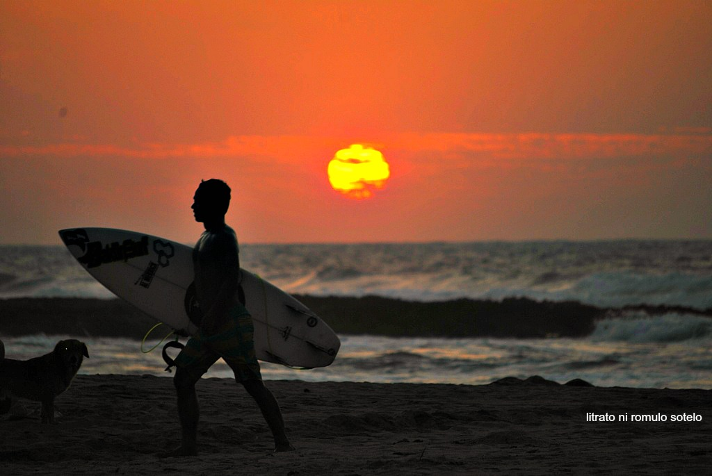 Surfing at San Juan, La Union.