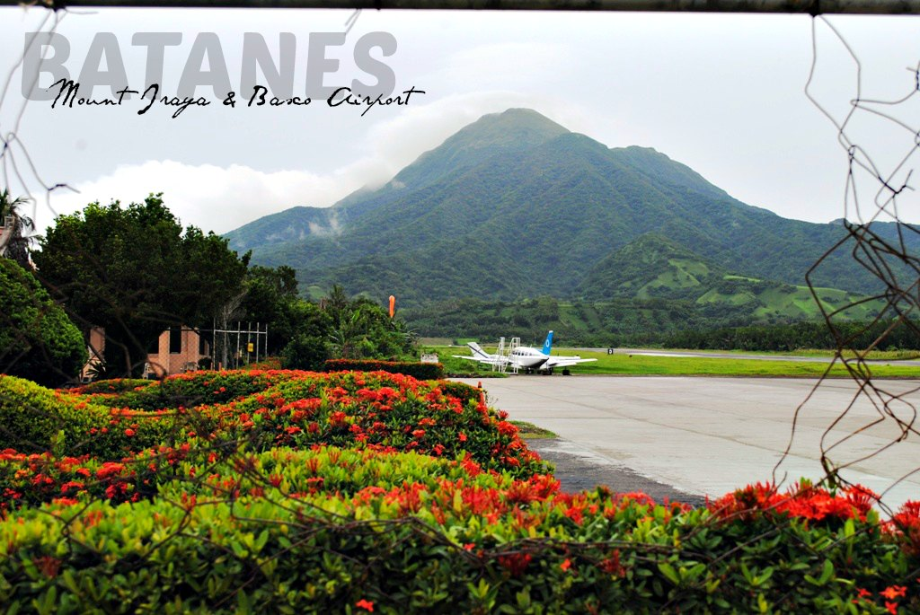 Basco airport with Mount Iraya as its majestic backdrop.