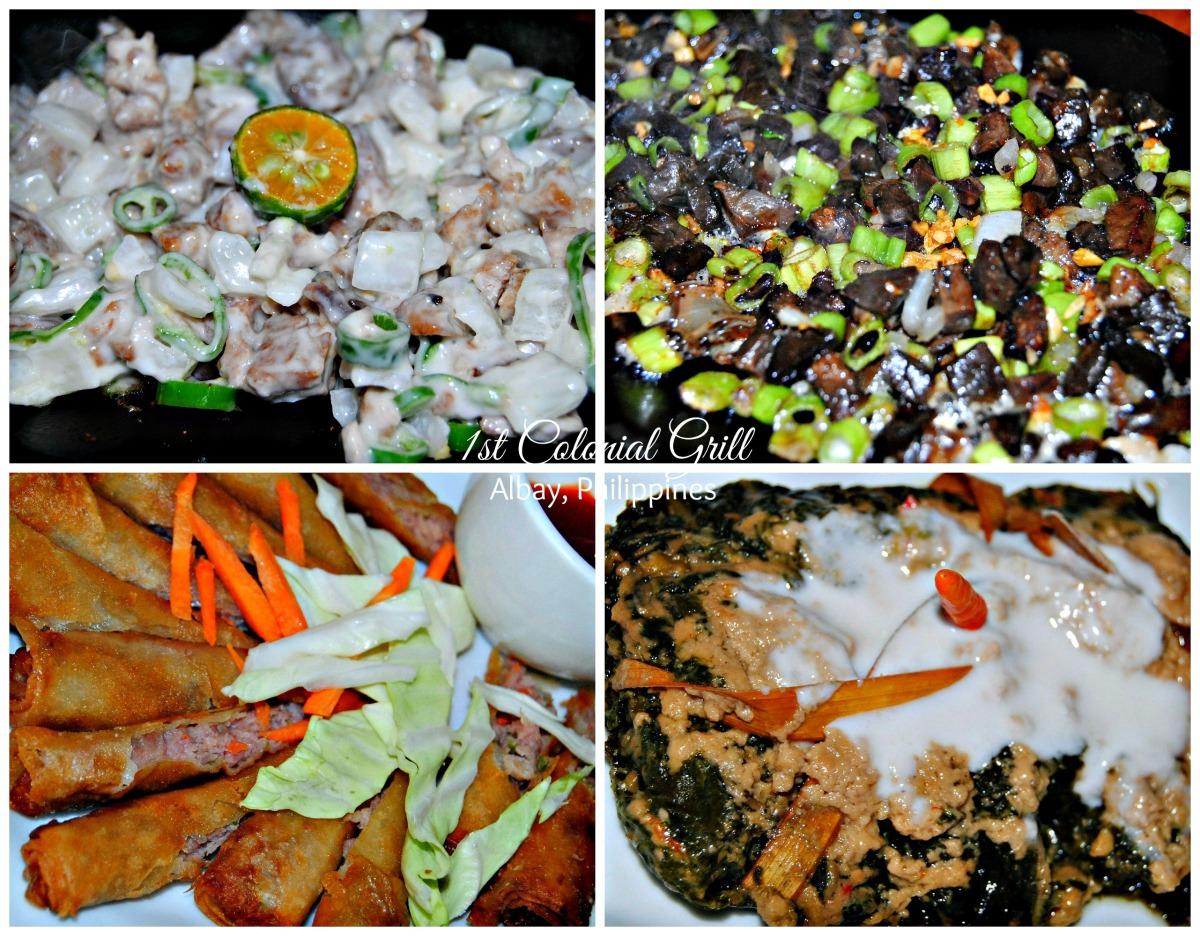 Tuna Sisig - Kadingga (Bicol's Bopis & my personal favorite) - Vegetable Rolls - Pinangat.