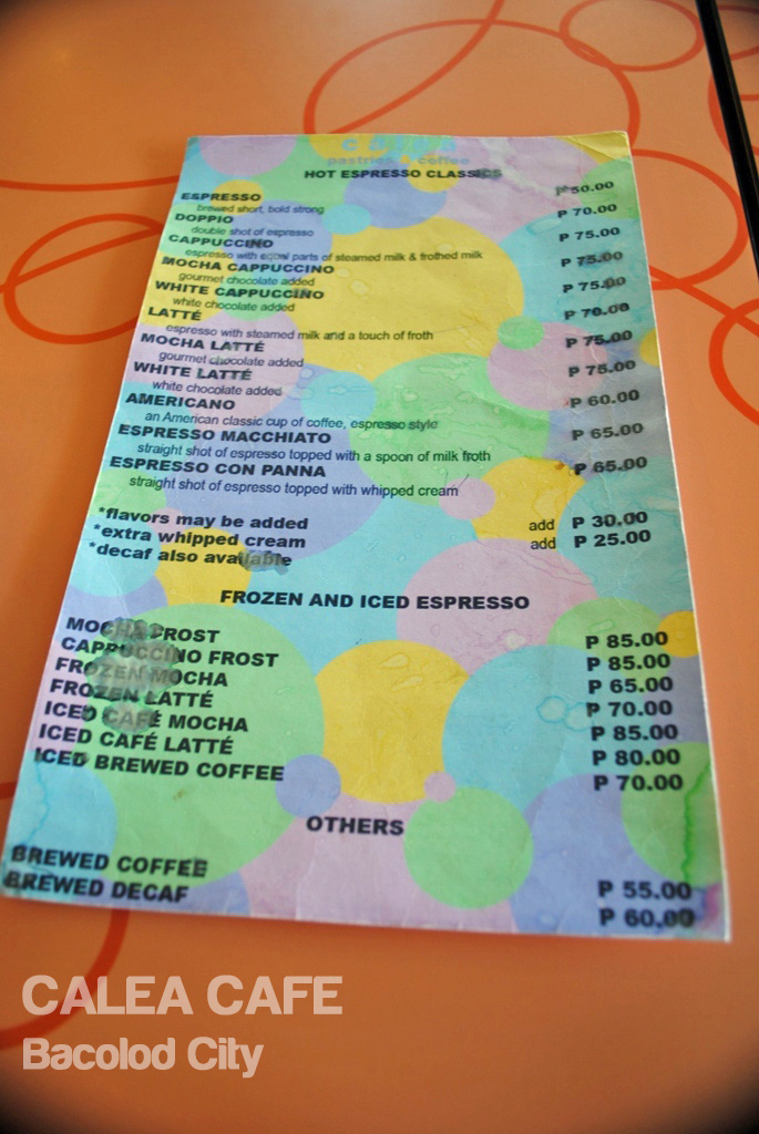 Food For Thoughts Cafe Menu